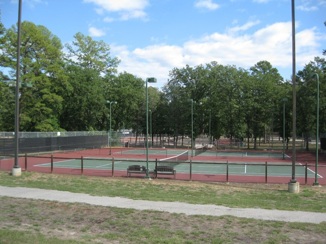 lighted tennis facility.