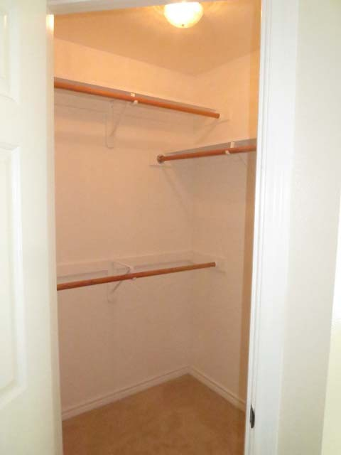 walk-in closet in master bed.